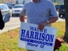 Wayne Harrison campaigning to save his seat on the Clarksville City Council