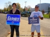 John Ferguson and another Campaign Volunteer at St. B Elementary School
