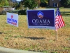 Dueling campaign signs