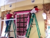 Hanging large quilts is no easy task