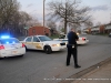 Clarksville Police close off an area around 52 Ladd Street were robbery suspect Justin Horstead was hiding out.