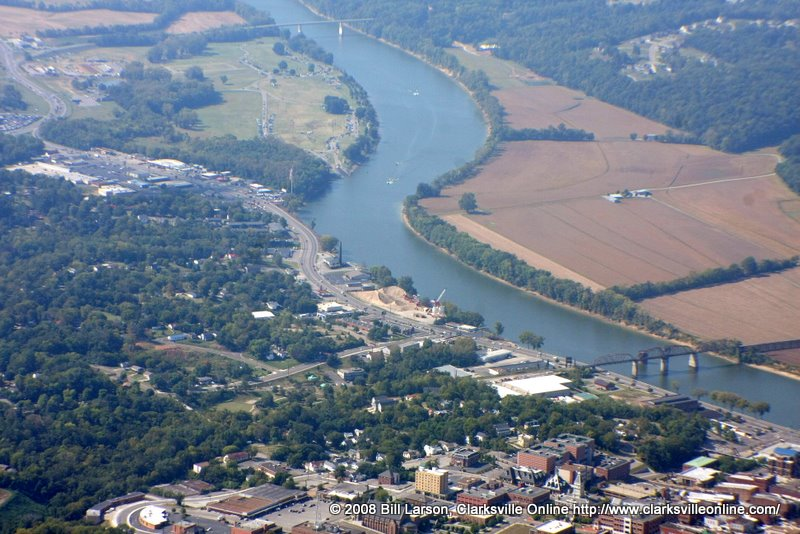 Lower Riverside Drive from the air