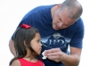 Trooper Pitts and daughter - \'Let Daddy get that, sweetheart!\'