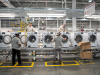 LG's new smart washing machine factory, equipped with state-of-the-art automation, robotics, and engineered systems integration, employs 550 skilled employees who assemble top- and front-load washing machines.