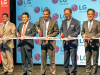 (From left to right): U.S. Rep. Mark Green, President & CEO of LG Electronics North America William Cho, Tennessee Gov. Bill Lee, President of the LG Home Appliance and Air Solutions Company Dan Song and South Korean Consul General Young-jun Kim cut the ceremonial ribbon for LG's state-of-the-art washing machine factory in Clarksville, Tennessee.