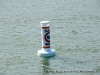 Slow No Wake buoy just outside the entrance to the Marina Basin in the Cumberland River.
