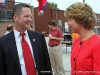 State Senator Tim Barnes speaking with Candidate for Governor Kim McMillan