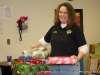 Julie Wright, Administrative Officer & Facilities Manager wraps some gifts