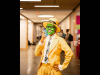 Austin Peay State University art student Jeremy Vega walked around campus and his neighborhood dressed as The Mask on Halloween. He created the mask himself.