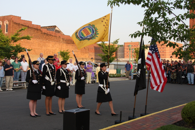 CHS Honor Guard Post Colors at Memorial Day Candelight Vigil