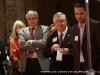 APSU President Tim and APSU Gallery Director Warren Greene listen to Susan Bryant\'s presentation