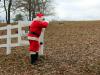 Santa looks for his missing reindeer.
