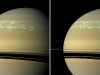 These two natural color views taken 11 hours -- one Saturn day -- apart by NASA\'s Cassini spacecraft help scientists measure wind speeds in the huge storm seen here in the planet\'s northern hemisphere. (Image credit: NASA/JPL-Caltech/Space Science Institute)