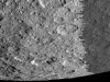 NASA\'s Cassini spacecraft took this raw, unprocessed image of Saturn\'s moon Rhea on March 10th, 2012. The camera was pointing toward Rhea at approximately 26,019 miles (41,873 kilometers) away. (Image credit: NASA/JPL-Caltech/SSI)