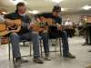Billy Montana (left) and Keni Thomas (right) play an American country music song to soldiers during the Nashville to You Tour at Camp Clark, Nov. 15, 2012. Other members of the tour included Carlton Ray Scott, Thomas Verges and Hillary Lindsey. The tour featured Nashville's top songwriters and performers as they traveled throughout Afghanistan performing for deployed soldiers. (U.S. Army Photo by Sgt. 1st Class Abram Pinnington, TF 3/101 PAO)