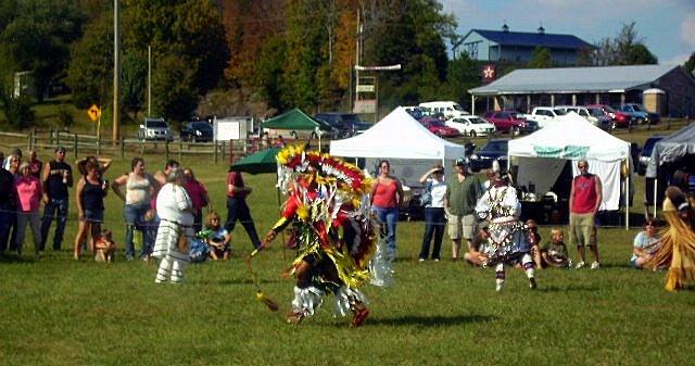 Fancy Men's Dancer performs at NCC Powwow