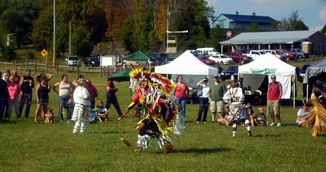 Fancy Men's Dancer performs at NCC Powwow