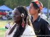 Head Lady Loretta Howard and Hoop Dancer Moki Washington