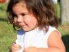 Native girl toddler at the Powwow