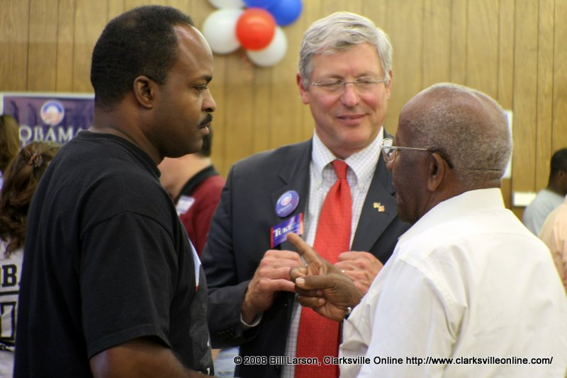 Bob Tuke with fellow Democrats