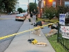 Crime Scene at University Landing Apartments parking lot.  (CPD Public Information Officer Jim Knoll)