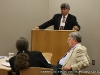 Dr. Howard Winn, listens during the Contemporary American Issues panel