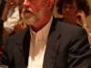 Conference dinner guest listens during Seigenthaler's address