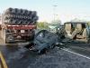 Chevy Silverado rear ended a Tractor Trailer on Trenton Road.