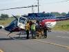 Air EVAC loading the patient, Matthew Lewis.