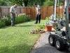 MCSO Bomb Squad technicians John Stone and Bishop Delaney evaluate the debris.