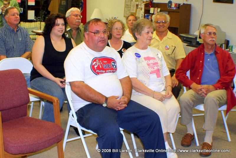 Members await the debate at Republican Party Hqtrs