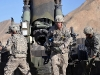 U.S. Army Pfc. Jerimiah E. Thompson, of Atlanta, an assistant ammunition team chief with 1st section, 1st Platoon, Battery A, 2nd Battalion, 320th Field Artillery Regiment, Task Force Balls, loads a round into a M777 howitzer moments before it is fired from Combat Outpost Garcia in eastern Afghanistan's Nangarhar Province Oct. 2nd. (Photo by U.S. Army Sgt. Albert L. Kelley, 300th Mobile Public Affairs Detachment)