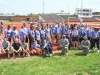 The volunteer Soldiers from the 526th Brigade Support Battalion, 2nd Brigade Combat Team, 101st Airborne Division (Air Assault) and the Fort Campbell High School student athletes and coaches, pose for a picture after the closing ceremonies of the Area 12 Special Olympics held at Clarksville's Austin Peay Stadium, April 18. The volunteer Soldiers provided donated food, beverages, pop-up tents and encouragement for the special needs athletes throughout the day long event.(US Army photo by Sgt. Keith Rogers, 2nd BCT UPAR, 101st Abn. Div.)