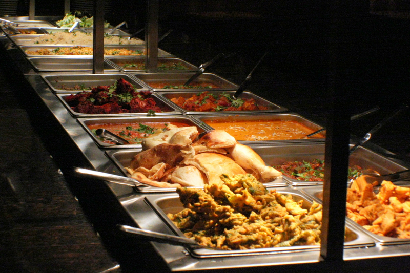 The buffet line from the left