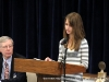 Grace Hinson reads from her essay.