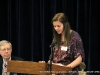 Autumn Brown reads a part of her essay to those in attendance.