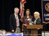 Autumn Brown receives her award.