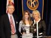 (L to R) Ron Smithfield; Grace Hinson, Middle School Division Winner; Debbie McGaha Bratton.