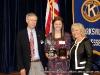 (L to R) Ron Smithfield; Autumn Brown, High School Division winner; and Debbie McGaha Bratton.
