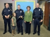 Mayor McMillan with award recipients and Officer Danault's daughter, Bella. (Photo by CPD-Jim Knoll)