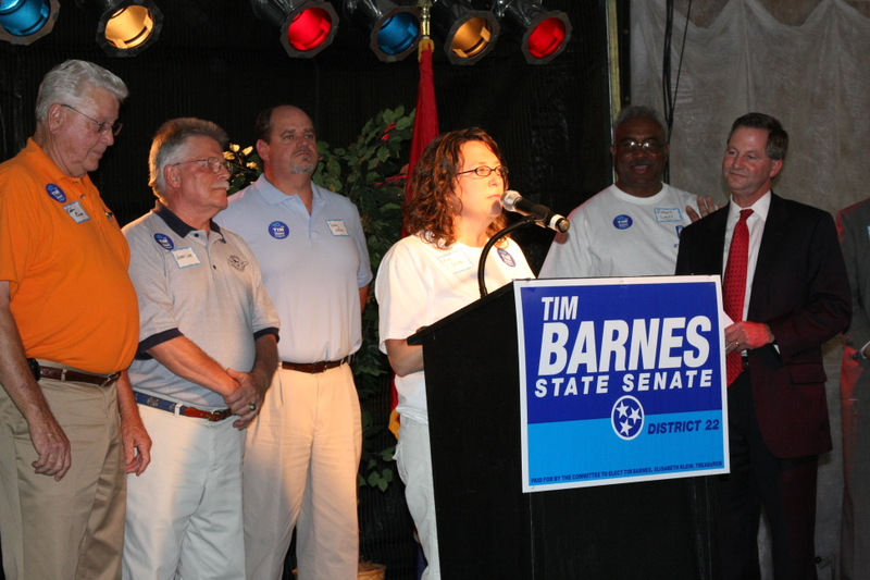 Tim Barnes Steps Off With Enthusiasm At Campaign Kickoff