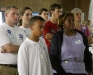 Cross-generational supporters listen as Lt. Gov. Wilder speaks