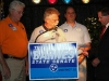 AFL-CIO and Machinists Union officials present campaign support donations