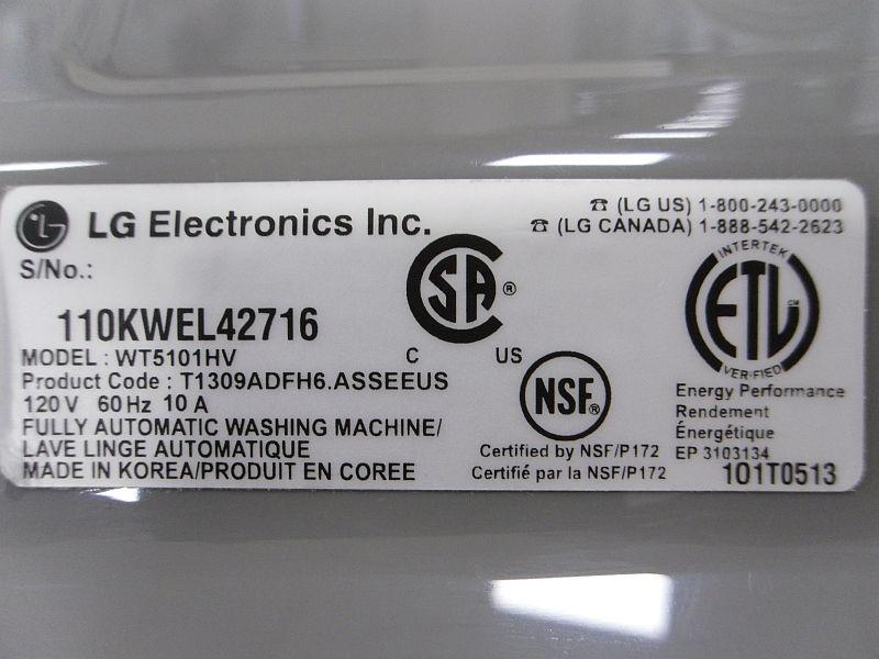 washing machine recall mold