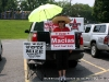 A supporter promoting her candidates at Norman Smith Elementary School (District 5)