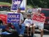 Supporters promoting their candidates at Norman Smith Elementary School (District 5)