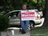 Supporters promoting their candidates at Hilldale United Methodist Church (District 19)