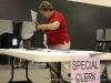 The Special Clerk stands ready to assist voters with any issues which may prevent them from casting their ballot at People voting at Hilldale United Methodist Church (District 19)
