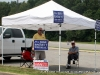 Supporters promoting their candidates at the East Montgomery School (District 3A)