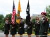 Standing before the War Memorial